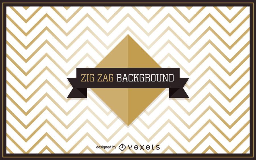 Golden zigzag background