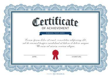 Certificado de plantilla logro
