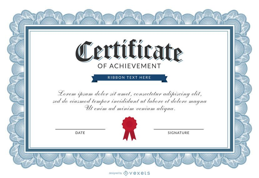 Certificate Of Achievement Template  Certificate Of Achievement Template