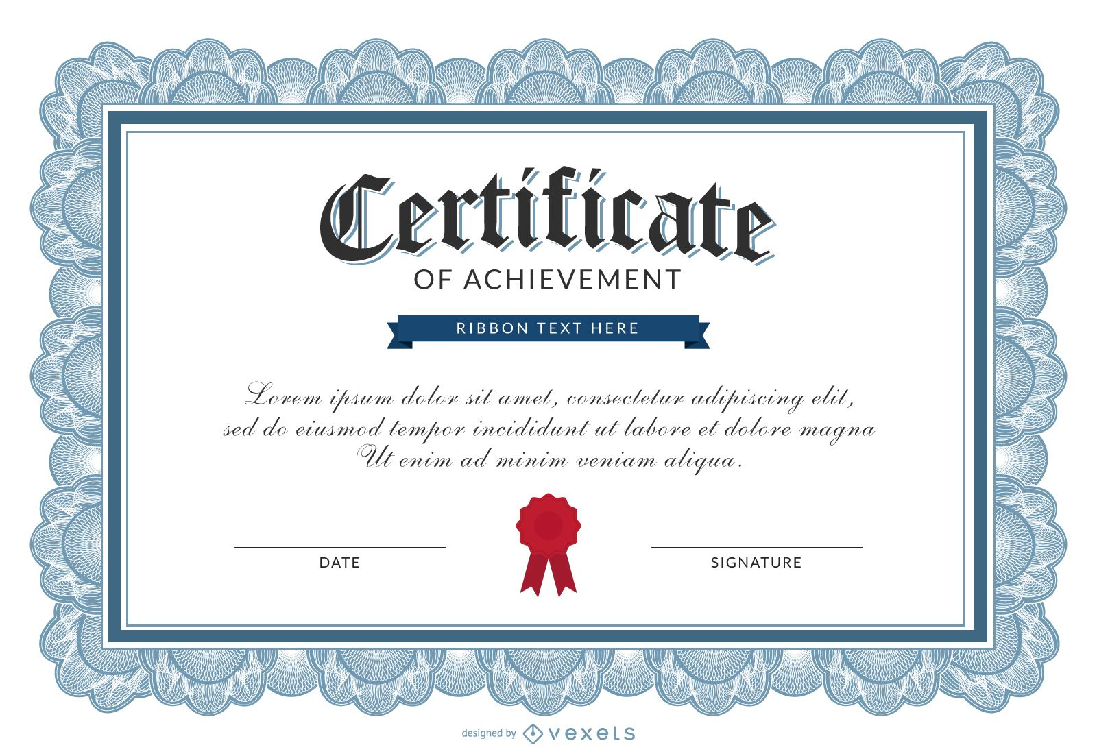 certificate template vector certificate of achievement template