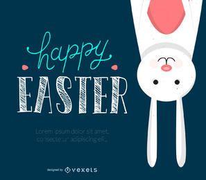 Divertido diseño de Pascua con ilustraciones.