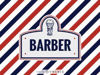 Peluquería fabricante de la etiqueta logo