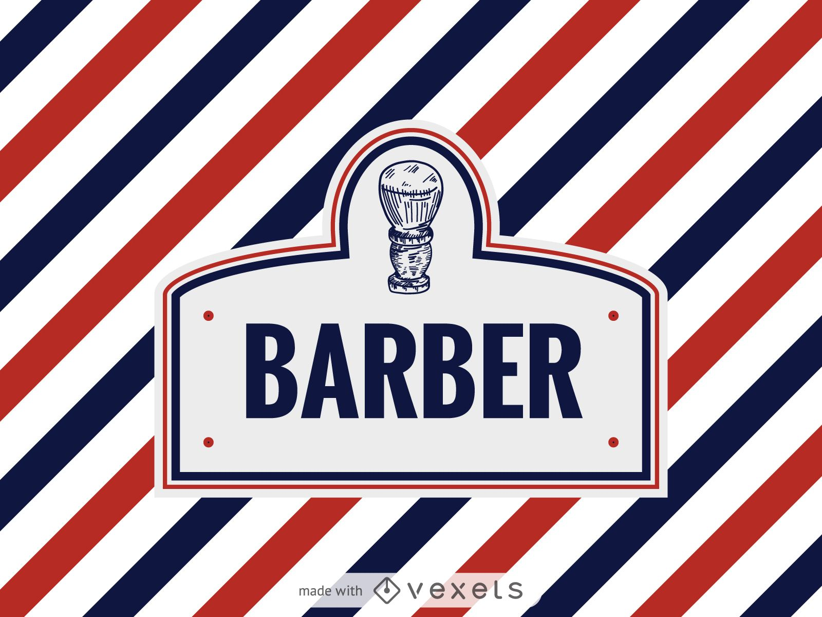 barber logo label maker editable design