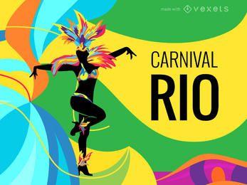 Fabricante de carteles del carnaval de Rio