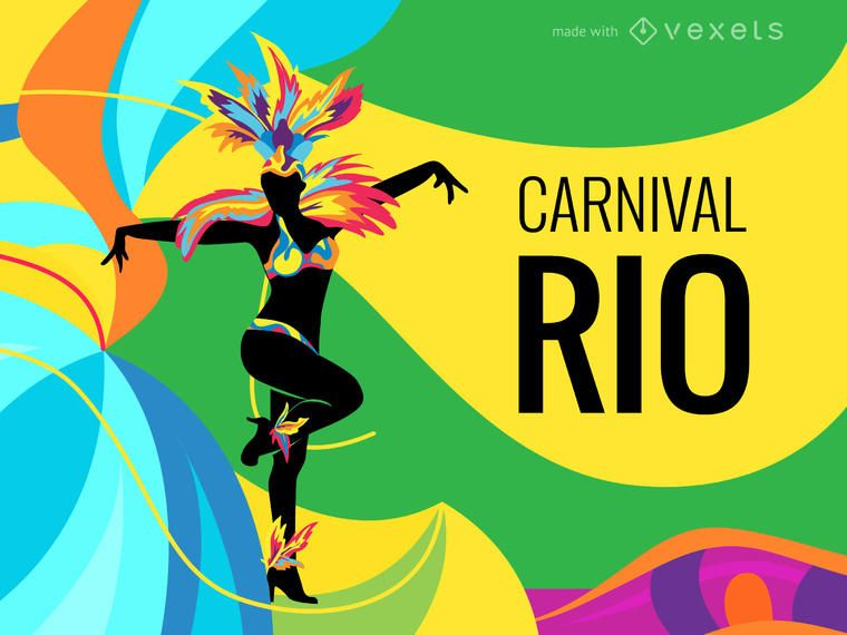 Rio Carnival poster maker - Editable design