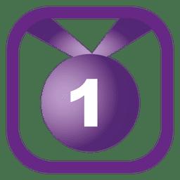 Botón de placa del 1er lugar