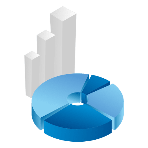 3d piechart graph - Transparent PNG & SVG vector