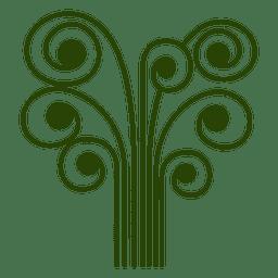 Icono de árbol abstracto