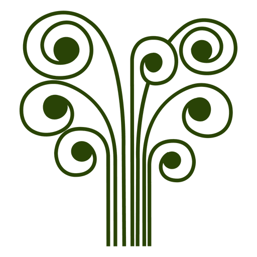 Abstract tree icon Transparent PNG