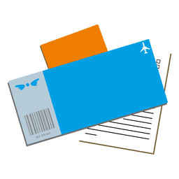 Air ticket boarding passport