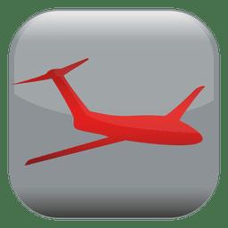 Botón cuadrado del avión