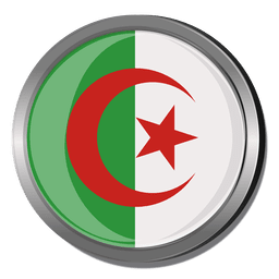 Algeria round flag