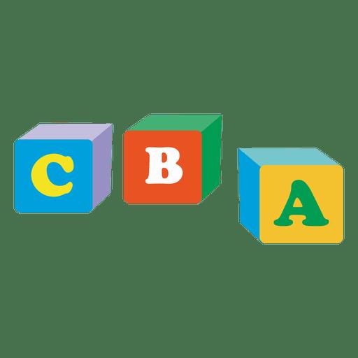 Cubos alfabeticos Transparent PNG
