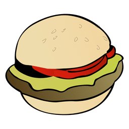 Desenho de hambúrguer americano