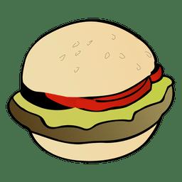 Dibujos animados hamburguesa americana