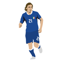 Andrea pirlo cartoon