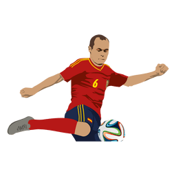 Andres iniesta cartoon