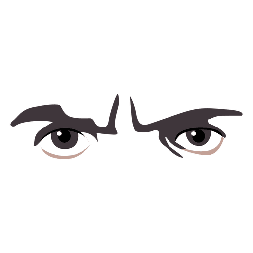 Angry eyes expression - Transparent PNG & SVG vector file