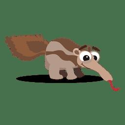 de dibujos animados oso hormiguero
