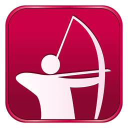 Archery square icon