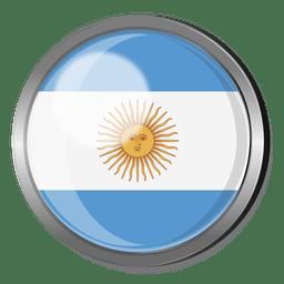 Distintivo de bandeira Argentina
