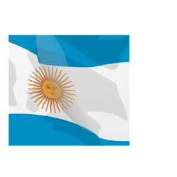 Argentina flag cartoon