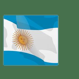 Bandera argentina de dibujos animados