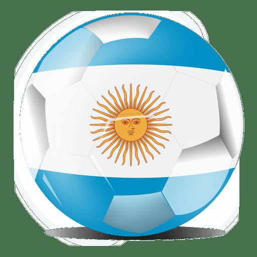 Bandera de fútbol de Argentina Transparent PNG