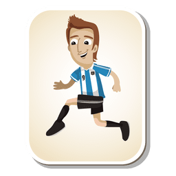 Argentina football player cartoon