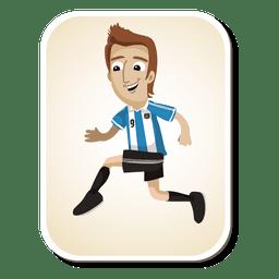 Dibujos animados de futbolista argentino