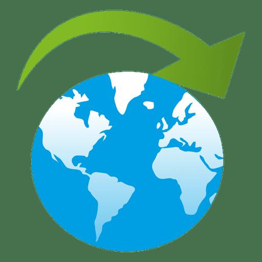 Arrow on globe Transparent PNG