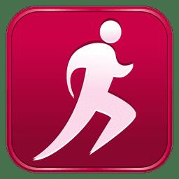 Atletismo ícone quadrado