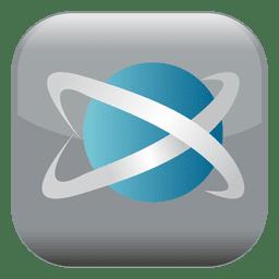 Botão quadrado do átomo
