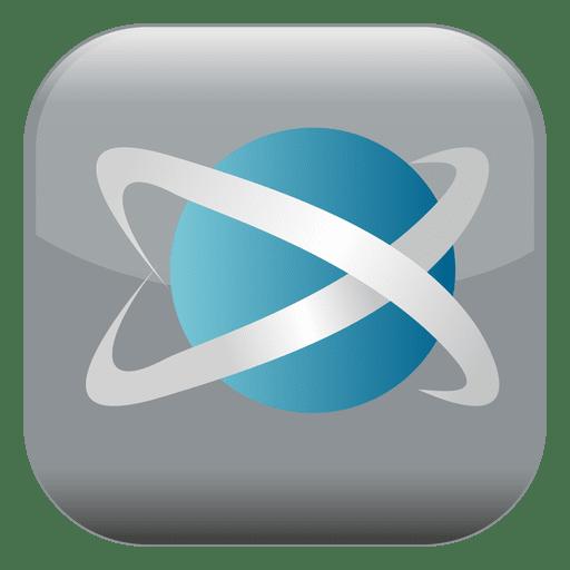 Botão quadrado do átomo Transparent PNG