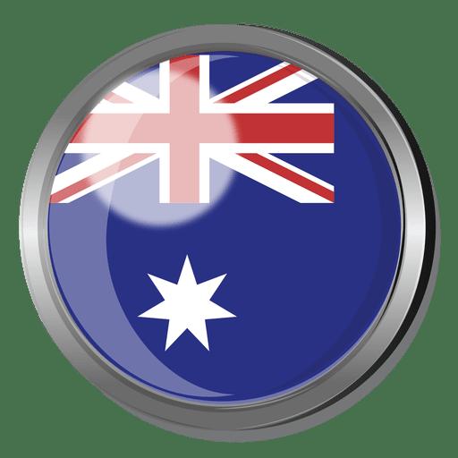 Australia flag badge Transparent PNG