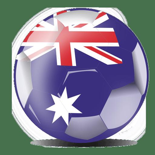 Bandera del fútbol de australia Transparent PNG