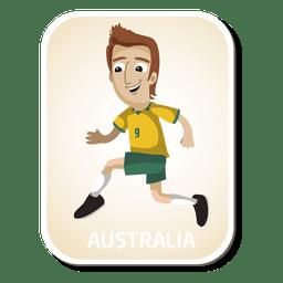 Australien-Fußballspieler-Cartoon