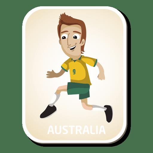 Dibujos animados de jugador de fútbol de Australia Transparent PNG