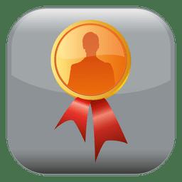 Badge square icon