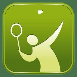 Badminton square icon