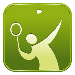 Ícone quadrado de badminton
