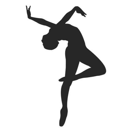 Ballet dancer backwards Transparent PNG