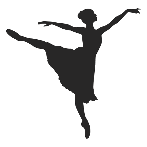 Ballet dancer jumping Transparent PNG