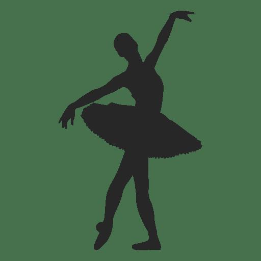 Ballet dancer open arms pose Transparent PNG