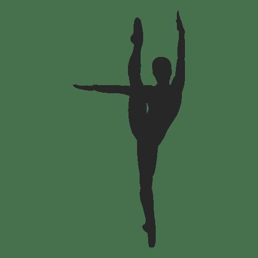 Ballet dancer streched leg