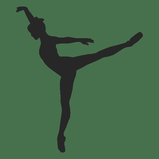 Ballet dancer sustained toe