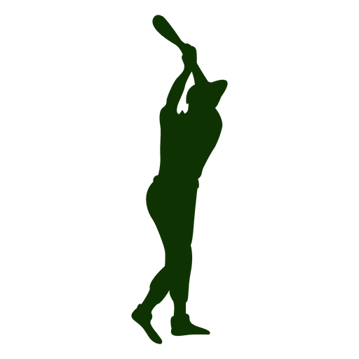 Baseball Silhouette batting sequence
