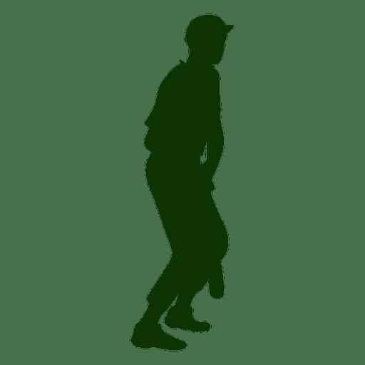 Batter Baseball Silhouette Vector