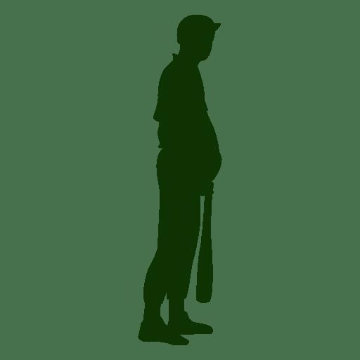 Baseball batting Silhouette Design