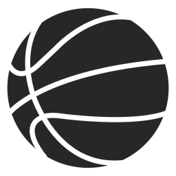 Basketball ball icon silhouette